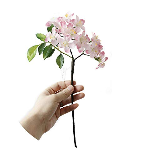 1 Bunch Silk Flower Artificial Cherry Flowers Fake Artificiales Flores Romantic for Wedding Party Home Decoration,Pink