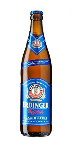 Erdinger Weissbier German Wheatbeer Non-alcoholic Beer 500ml (.5liter) 6 Pack (1/2 Liter German Beer)