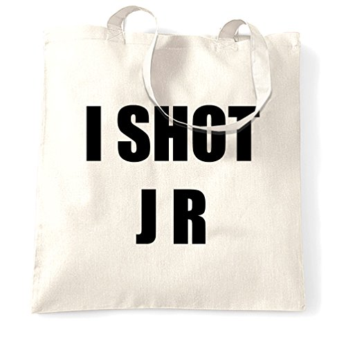 TV J Ewing R Shot Tote I Parody Natural Slogan Size One White Bag qxATrSq