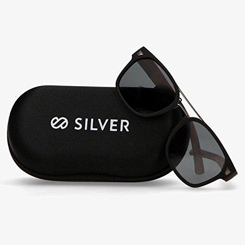 Sol Negra Silver U T Marrón Gafas Talla q8Tdq