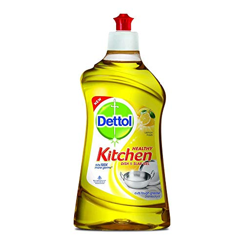 Dettol Kitchen Dish and Slab Gel   400 ml  Lemon Fresh