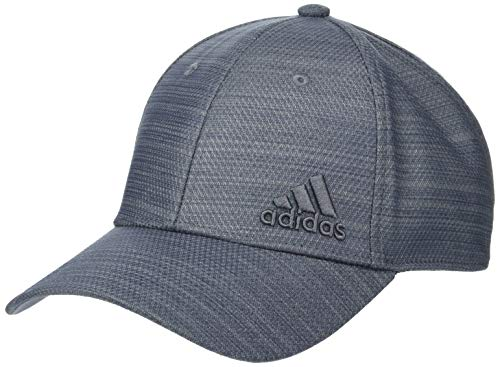 (adidas Men's Release Stretch Fit Structured Cap, Two Tone Grey/Onix, Small/Medium)