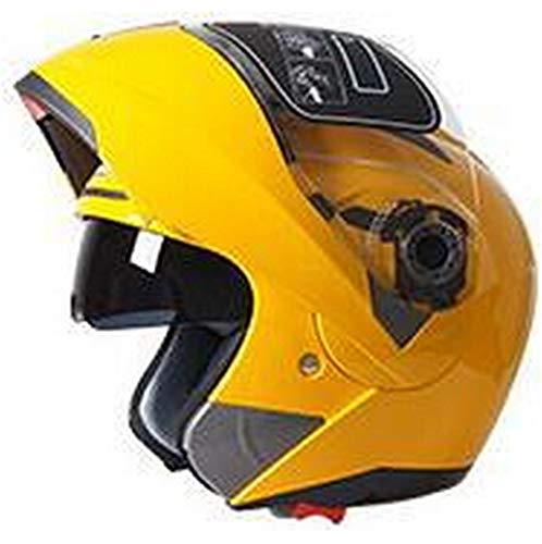 ty Motorcycle Flip Up Helmet Moto Helmet Motorbike with Inner Sun Visor Helmet -105 Yellow M