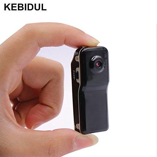 KEBIDUL MD80 Mini DV DVR Hidden Camera Camcorder Video Recorder For Webcam Helmet Bike Motorbike Hiking (Spy Digital Dvr)