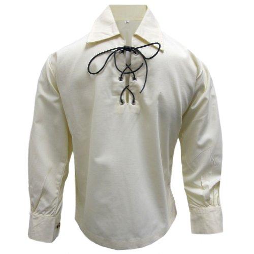 Tartanista Boys Cream Jacobite Shirt (Leather Ghillie)