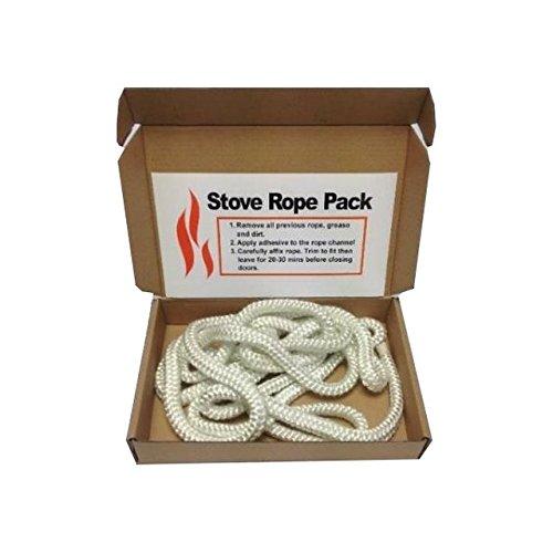 Kit con corda in fibra di vetro per la sostituzione dello sportello della stufa, corda standard da 8 mm x 2 m. VOYTO