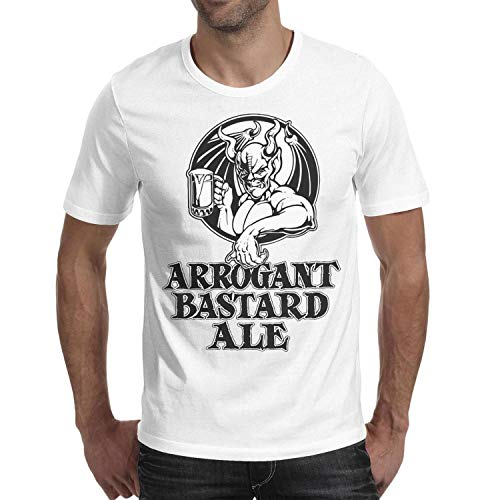 Ruslin Short-Sleeve Cotton Stone Arrogant Bastard ALE Tshirt for Men
