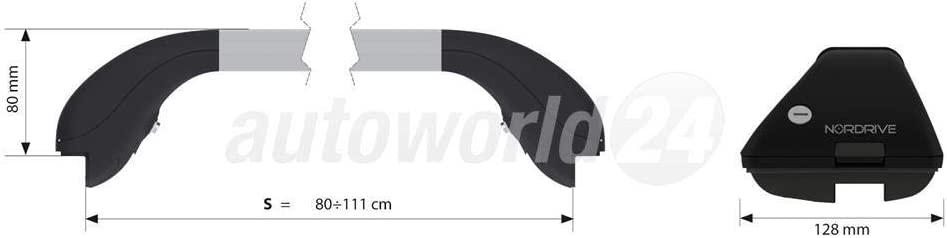 a/ño de fabricaci/ón 10//2015 para Ford Galaxy Baca de aluminio con barra abierta cerrada.