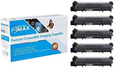 SuppliesMAX Compatible Replacement for Dell E310DW//E514DW//E515DN//E515DW Black Jumbo Toner Cartridge 5//PK-4000 Page Yield 593-BBKCJ/_5PK