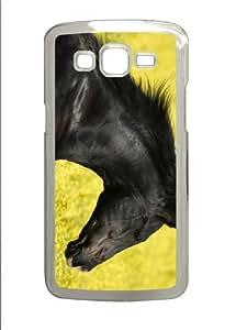 brand new Samsung Gcase black stallion head PC Transparent case/cover for Samsung Galaxy Grand 2/7106