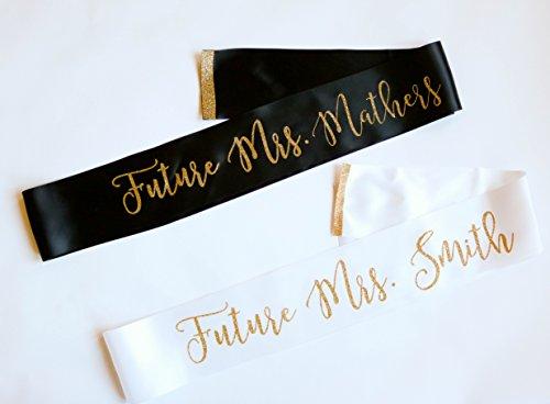 Personalized Future Mrs. Bridal Bachelorette Sash