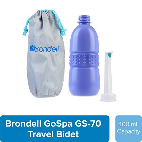 Cheap Brondell GoSpa Travel Bidet GS-70 Easy-to-use Portable Bidet with Convenient Nozzle Storage, Travel Bag, 400 ml Capacity, and Angled Nozzle Spray travel bidet