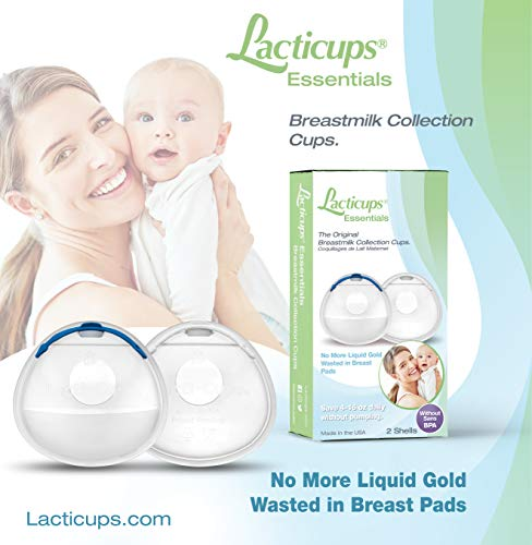 Breast Shell & Milk Catcher for Breastfeeding Relief – (2 in 1) Protect Cracked, Sore, Engorged Nipples & Collect Breast Milk Leaks During The Day, While Nursing or Pumping (2 Pack)