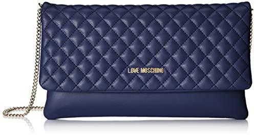 Borsa Love Pu blu Quilted Blue Moschino Bag Women's Nappa Shoulder rwCqECcI