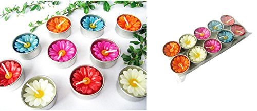 Thai Spa Candle , Relaxed Aroma Candle Daisy Flower in Tealight with Aluminium Grommet Holder Thai Product 10 Pcs