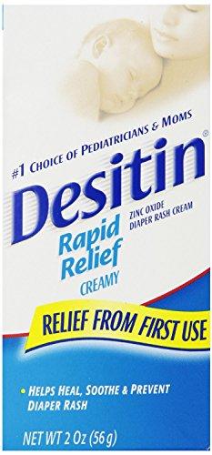 Desitin Rapid Relief Creamy Zinc Oxide Diaper Rash Cream, 2 Count - Desitin Creamy Ointment