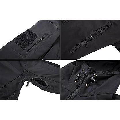 TACVASEN Military Waterproof Men's Softshell Jacket Fleece Lining Camouflage Outdoor Coat 5