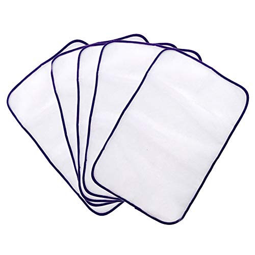 (Protective Ironing Scorch Mesh Cloth Scorch-Saving Mesh Pressing Pad No Melt for Easy Ironing and Protection 5-Pack (Random Color))
