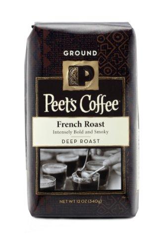 Peet's Ground Coffee, French Roast, Dark Roast, 12-Ounce Bags (Pack of 2)