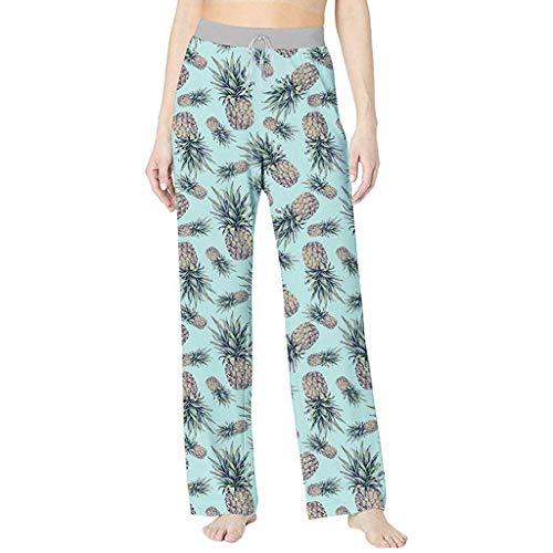 - UOFOCO Summer Printed Comfortable Pajama Pants Women Casual Beach Sport Yoga Trousers Green