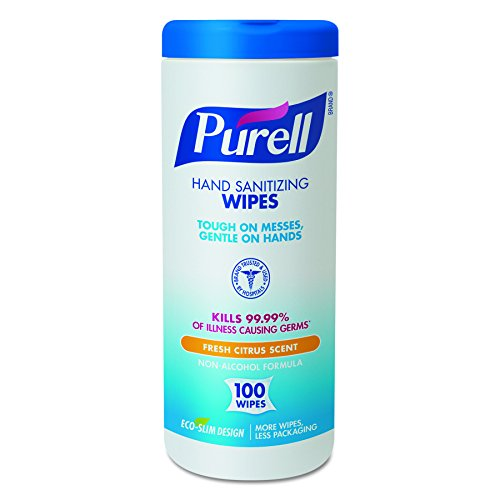 PURELL 9111-12 Sanitizing Wipes, 100 Count Canister (Case of ()