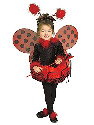 Child's Costume, Lady Bug Tutu Costume, Small - (Size 4-6) (for 3-4 -