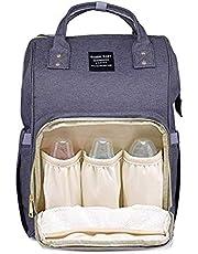 حقيبة لحمل أغراض الطفل من جنين بيبي - مقسمة من الداخل - رمادى