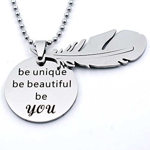 N egret Necklace Feathers Inspirational Daughter product image