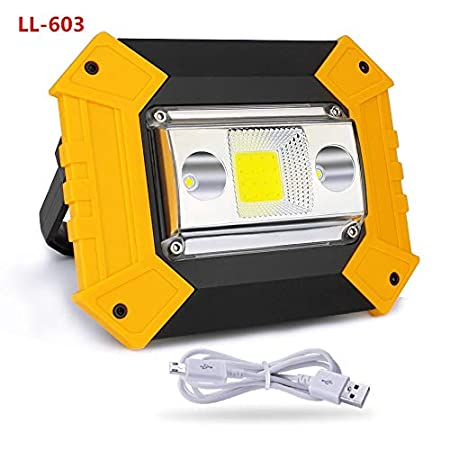 LIFH Luz de Trabajo LED 20W USB Recargable Proyector portátil ...