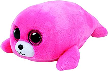 Amazon Com Ty Beanie Boo S Pierre Pink Seal Regular 6 Size Toys