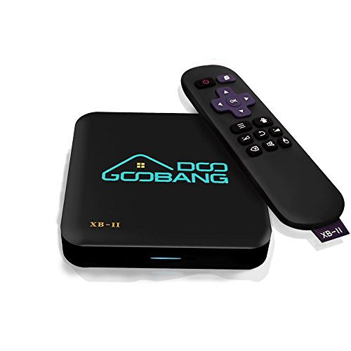 2017 Newest Model GooBang Doo XB-II Android 5.1 TV Box with 1000M LAN 16GB ROM, Unique GooBang Doo Server(OTA) Support True 4K Playing with Dual-Band WIFI