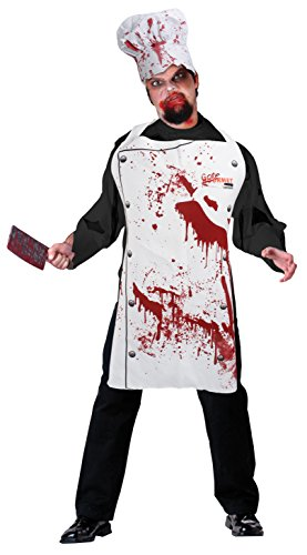 Bristol Novelty DS164 Chef Set Bloody (Apron and Hat), One Size -