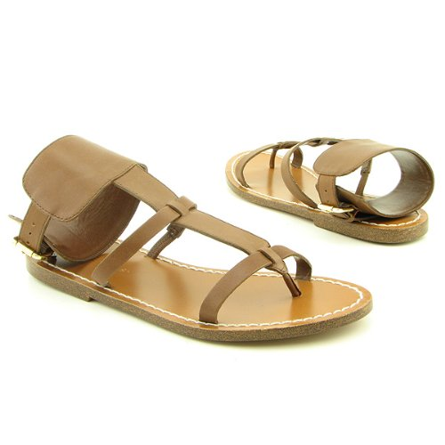BCBG Size 6 M Womens Shoes Brown Porto Leather Slides Vf52c0