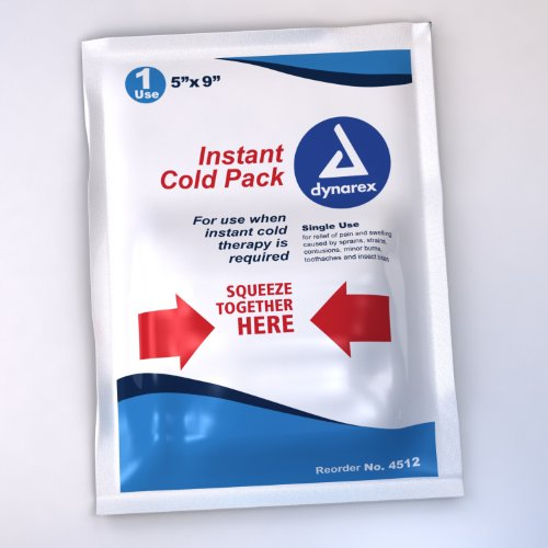Dynarex DY-4512-24 Instant Cold Pack, 5 x 9 inch - 24 in Cas