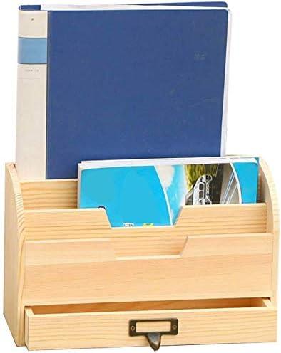 Revista de escritorio Organizador de archivos Cajón de escritorio creativo Caja de almacenamiento Oficina Caja de almacenamiento de madera Dormitorio Dormitorio Mesa de almacenamiento de madera Caja: Amazon.es: Hogar