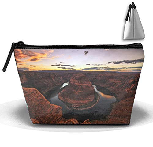 Pencil Pen Zipper Pouch Small Cosmetic Makeup Bags,Horseshoe Bend Canyons Style
