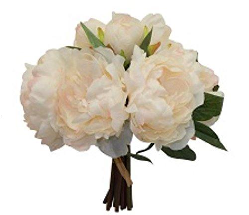 12-Peony-Bouquet-Artificial-Silk-Wedding-Bridal-Budh-Flowers-Decor-10-Blooms