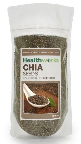 HealthWorks pesticides et des produits chimiques Chia gratuit Seeds 2 livres