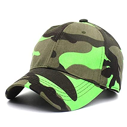 5717a8b0 Image Unavailable. Image not available for. Color: WOFDDH Baseball Cap  Unisex Fashion Green Camouflage ...