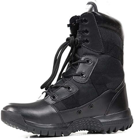 軍事戦術ブーツスエードkeepwarmアンチキックつま先登山靴滑り止め耐摩耗クッション快適なラバーソール (色 : 黒, サイズ : 27 CM)