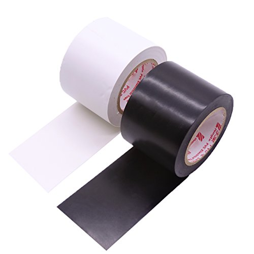 Black Insulation Tape (Maveek 2 Rolls Electrical Tape 50mm15m Silicone Waterproof Repair Insulation Tapes, Black and White)