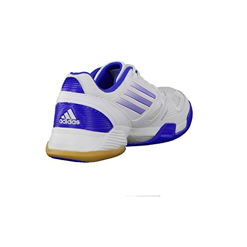 weiss blau Hallenschuh Damen adidas team feather Handball 0 W USYwwqax