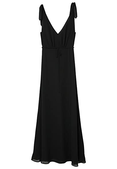 MANGO Womens Scoop-Back Bodycon Dress, Black, ...