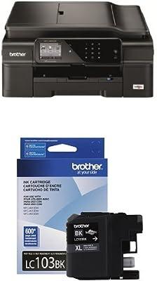 Amazon.com: Brother Printer MFCJ650DW Wireless Impresora de ...