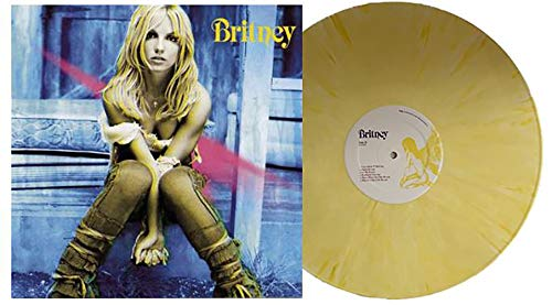 Britney - Exclusive Limited Edition Yellow And White Swirl Vinyl LP (Britney Spears In Baby One More Time)
