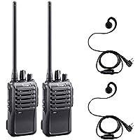 2 Pack of Icom F4001 UHF Analog Two Way Radios PREPROGRAMMED with Comfort Loop Earpiece