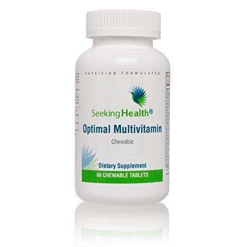 Seeking Health | Optimal Multivitamin | 60 Tablets | Mens Vitamins | Womens Vitamins | Daily Multivitamin Chewable Multivitamin | Multivitamin for Men | Multivitamin for Women