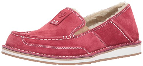 Ariat Women's Cruiser Fleece Work Boot, Strawberry Suede, 7.5 B US