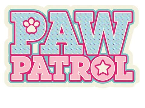 4 Inch Logo Everest Skye Paw Patrol Girl Pup Badge Wall Decal Sticker Pups Puppy Puppies Dog Dogs Removable Peel Self Stick Adhesive Vinyl Decorative Art Kids Room Home Decor Children 4 x 2 1/2 inches