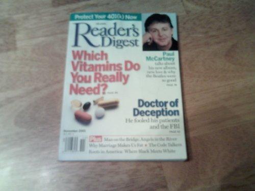 Readers Digest, November 2001